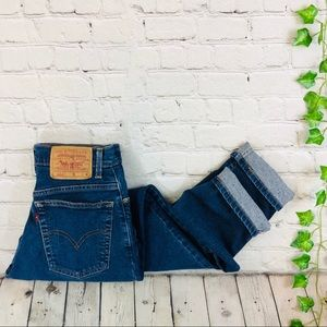 Vintage Levis 550 High Rise Tapered Wedge Mom Jean